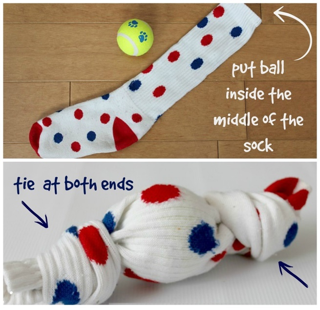 Dog Sock Ball Toy