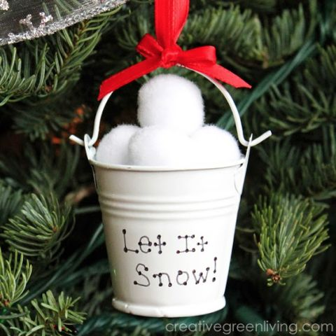 Let It Snow Bucket Ornament